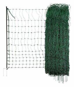 AKO Geflügelzaun PoultryNet 112 cm stromführend Doppelspitze Hühnerzaun Zaun