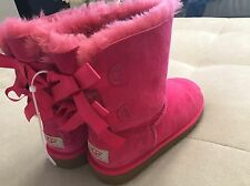 UGG Australia BAILEY BOW Size 4 or EU 34  Pink Girl Women Boots 3280K