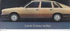 Lancia Gamma Berlina + Coupe Original Brochure Italian French English German