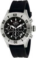 New Mens Invicta 7377 Signature II Chronograph Black Rubber Strap Watch