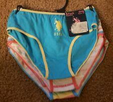 Nwt 5 Pair U.S. Polo Assn. Girls Panties Size M
