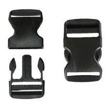 Black 38mm Plastic Quick Release Buckle Clip – Cord Strap Backpack Bag