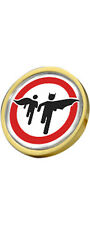 Batman & Robin Road Sign Gold Plated Clutch Pin Badge