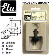 ELU E45136 HSS OGEE MOULD ROUTER BIT CUTTER - 8MM SHANK - D20.6MM  R4.8MM