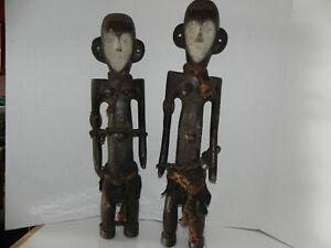 "Arts of Africa - Boa Figure M/F DRC Congo 32""H X 7""W"