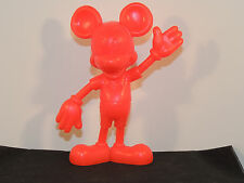 Solid Plastic 1971 Red Mickey Mouse made in Usa over 5 inches tall (3113)