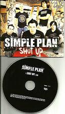 SIMPLE PLAN Shut Up  Europe Made PROMO DJ CD Single USA Seller w/ PRINTED LYRICS