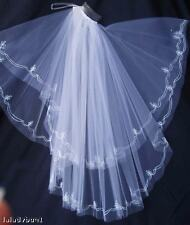 Bridal Veil with Silk Thread FiligreeTrim NEW $165