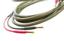 Ecosse MS2.15 speaker cable solid Mono-crystal 2mt terminated with Z/X Bananas
