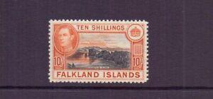 FALKLAND IS. 1938 10/- BLACK & ORANGE-BROWN SG162 MNH CAT £200
