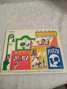 """VINTAGE PLAYSKOOL 1974 SESAME STREET WOODEN PUZZLE """"PEOPLE IN YOUR NEIGHBORHOOD"""""""