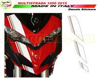 """Adesivi tricolore cupolino - Moto Ducati Multistrada 950/1200/1260/Enduro """"V310"""""""