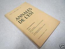 ANNALES DE L EST 1971 N° 3 BIBLIOTHEQUES MESSINES 18è SIECLE CLUNY A VANDOEUVRE*