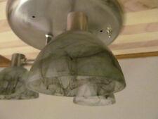 3 Arm Nickel 12 VOLT RV Trailer Smoke Black Swirl Ceiling Dinette Light Lamp