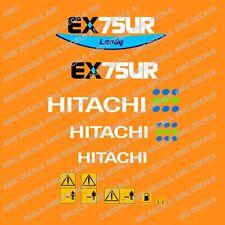 Hitachi EX75UR Escavatore Decalcomania Set