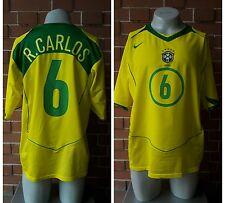 MAGLIA BRASILE 6 R. CARLOS CALCIO FOOTBALL MAILLOT JERSEY TRIKOT SOCCER SHIRT