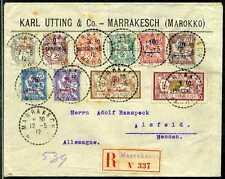 Marokko Französische Post Reko-Brief  Marrakesch  Alsfeld  1912