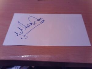 signed card of ex middlesbrough footballer james morrison