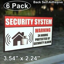 6 Home Security Burglar Alarm System Window Door Warning Vinyl Sticker Decal