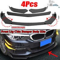 4PCS Fibra Carbonio Universal Auto Davanti Paraurti Spoiler Per Audi/BMW/Benz
