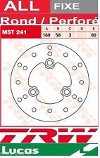 Disque de Frein Avant TRW Lucas MST241 Ø162 Kymco KB 100 Manboy KB 1997-2000