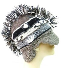 R320 NEW Gorgeous Hand Knitted Mohawk Ear Flap Woolen Hat/Cap Made in Nepal