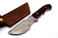 Custom Twist Damascus Steel Tracker Hunting Knife FF39 Micarta Handle