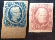 USA Confederate States 1863 2 X Stamps Mint