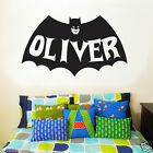 Personalised name & Batman Kid Removable Wall sticker Vinyl decal