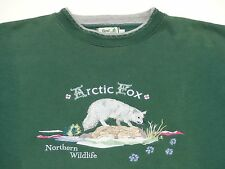 *BEST COMPANY PULLOVER*ARTIC FOX NORTHERN WILDLIFE*SUPPORT*ANIMAL*GR: L*TIP TOP