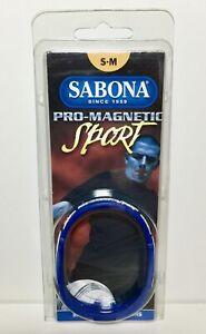 Sabona Pro Magnetic Sport S - M Wristband 1200 Gauss Magnets Minus Ions Titanium