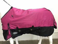 AXIOM 1800D BALLISTIC WATERPROOF PINK/BLACK 220g HORSE RUG - 5' 9