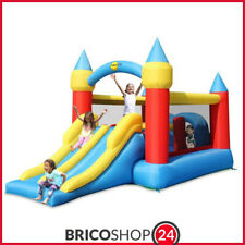 Gioco Gonfiabile per Bambini Gigante Castello Saltarello Scivolo con Motore Aria