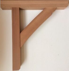 Wooden Hardwood Gallows Brackets by Willow Joinery