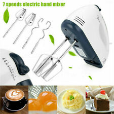 Electric Hand Mixer Whisk 7 Speed with Stainless Steel Egg Beater Cake Baking