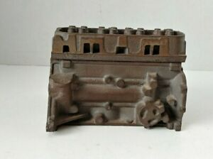 Miniature Diesel Truck or Tractor Engine Block Foundry Cast Model