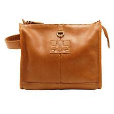 The British Bag Company - Tan Leather Wash Bag from The Rutland Range