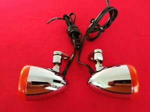 GENUINE 2017 HARLEY DYNA CHROME FRONT TURN SIGNALS SOFTAIL SPORTSTER BREAKOUT