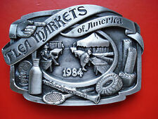 VTG 1984 Siskiyou Flea Markets of America Belt Buckle
