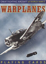 WARPLANES WORLD WAR II PLAYING CARDS, RUMMY - ORIGINAL PIATNIK - 55 cards, Piatn