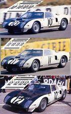 Calcas Ford GT40 Le Mans 1964 10 11 12 1:32 1:24 1:43 1:18 64 87 slot decals