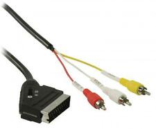 Cable Euroconector a 3 x RCA 5 m. (3xRCA-M +SVHS-H/SCART-M)