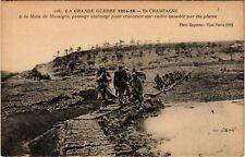 CPA  Militaire - A la Main de Massiges - Passage amenage  (695629)