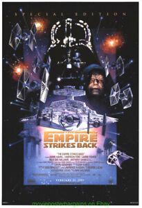 THE EMPIRE STRIKES BACK MOVIE POSTER Original DS 27x40 Star Wars DREW STRUZAN