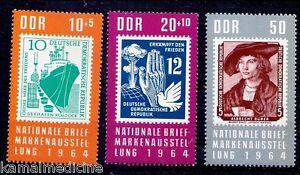Albert Durer, Painter, Ships, Stamps on Stamps, DDR 1964 MNH 3v