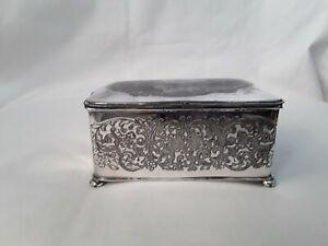 Vintage Silverplate Trinket Box Caddy ~ Quadruple 2136 Superior Silver Co U.S.A.