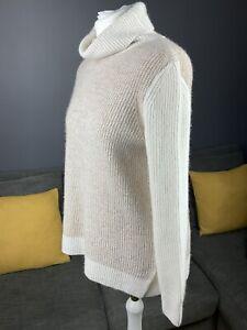 "Barbour Dipton Roll Neck Collar Womens Jumper Size Uk 10 P2P 20"" Vgc Genuine #A"