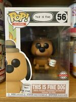 Funko Pop This Is Fine Dog KC Green #56 Special Edition Pop Icon W/PP Mint