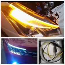 2x DC12V agua que fluye LED ámbar + Blanco 30cm Coche Lámparas Luces Antiniebla DRL de señal de vuelta
