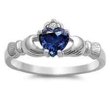 18k Sapphire Claddagh Fashion Rings